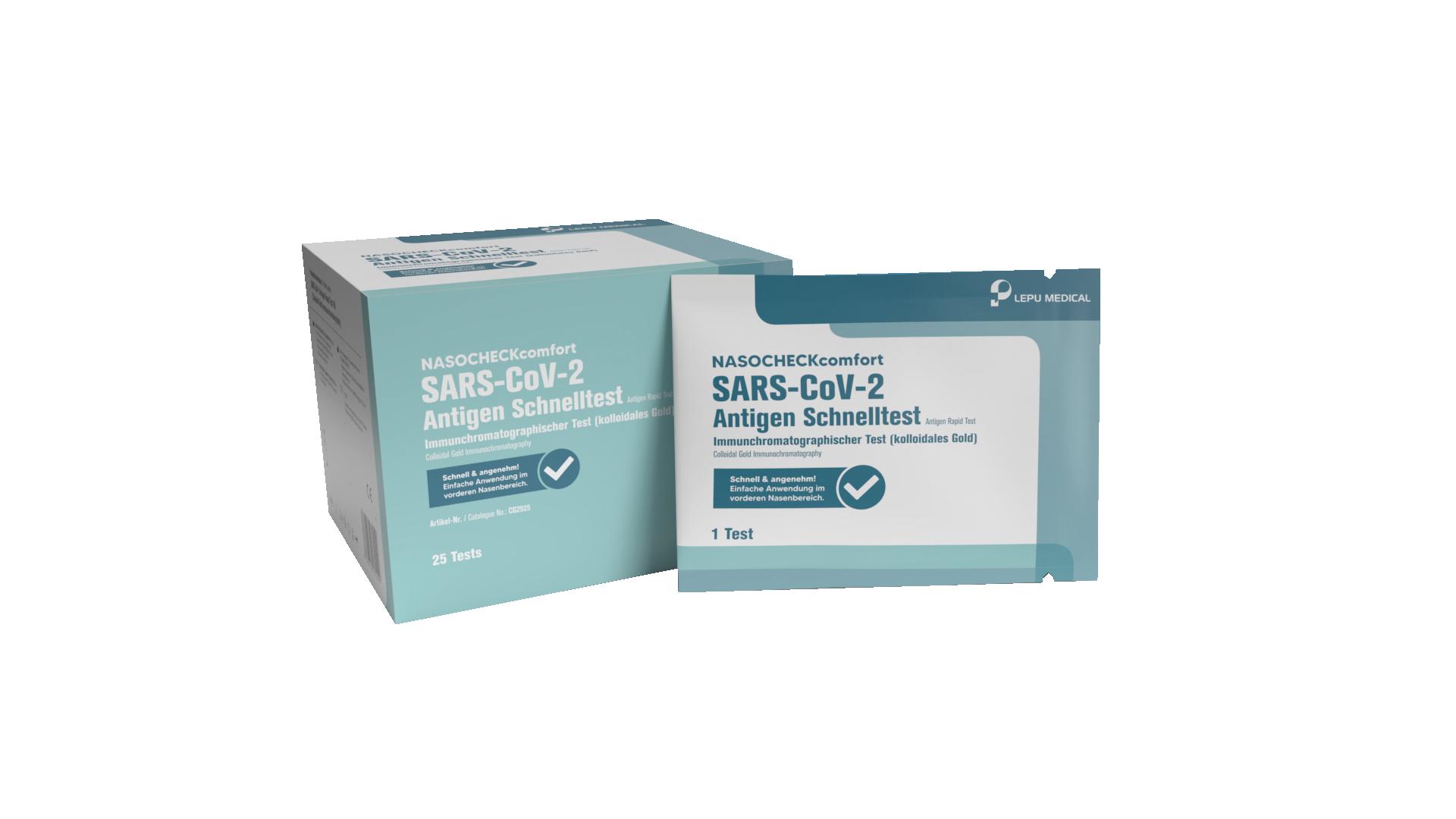 COVID - 19 AntiGen Schnelltest für Privat 25er Pack | LEPU Medical SARS-CoV-2