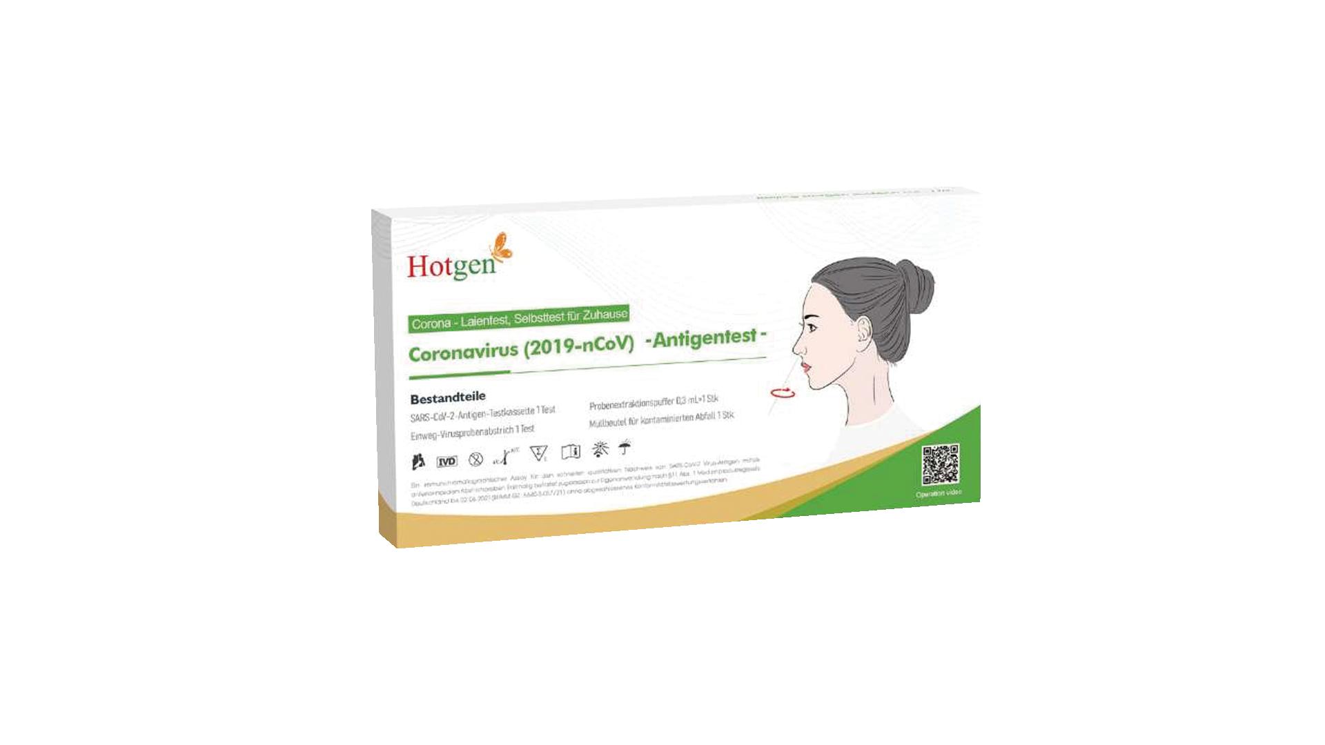 Hotgen - Corona-Laientest, Selbsttest für Zuhause